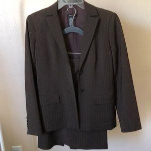 BCBGMaxAzria brown stripes skirt suits